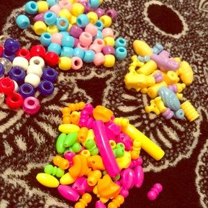 Vintage Kandi Bead Collection Pastels and Neon